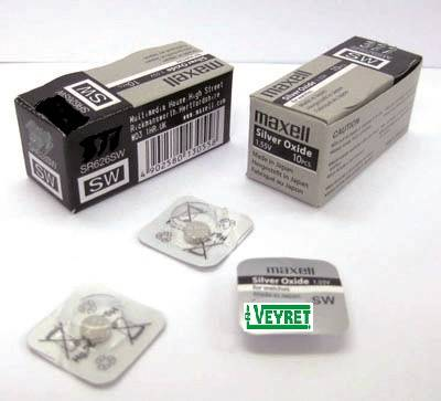 Pile 301 Bouton MAXELL-Silver SR43 SW