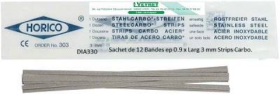 Sachet de 12 Bandes ep 0.9 x Larg 3 mm Strips Carbo.